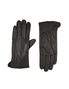 Black Leather Gloves -...